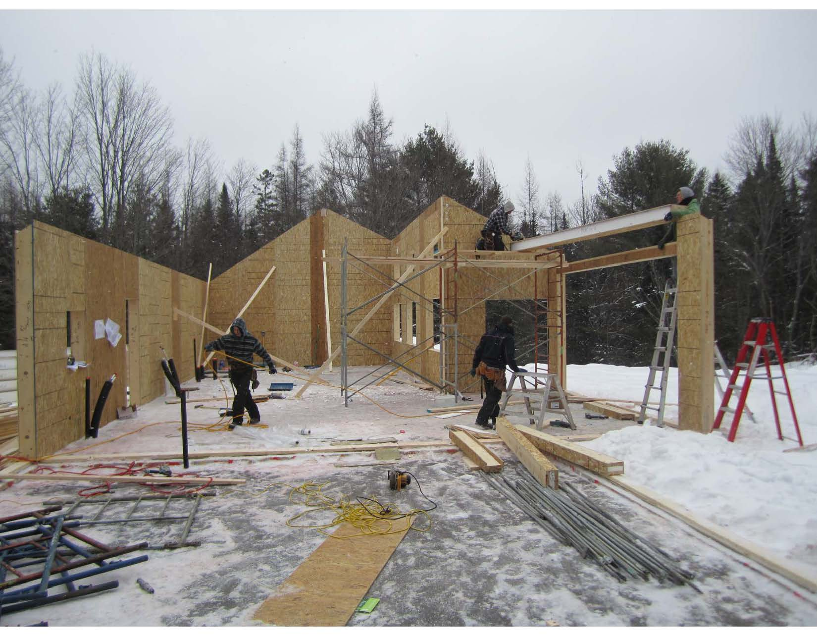 Aspley ON-4 House Walls Are Up