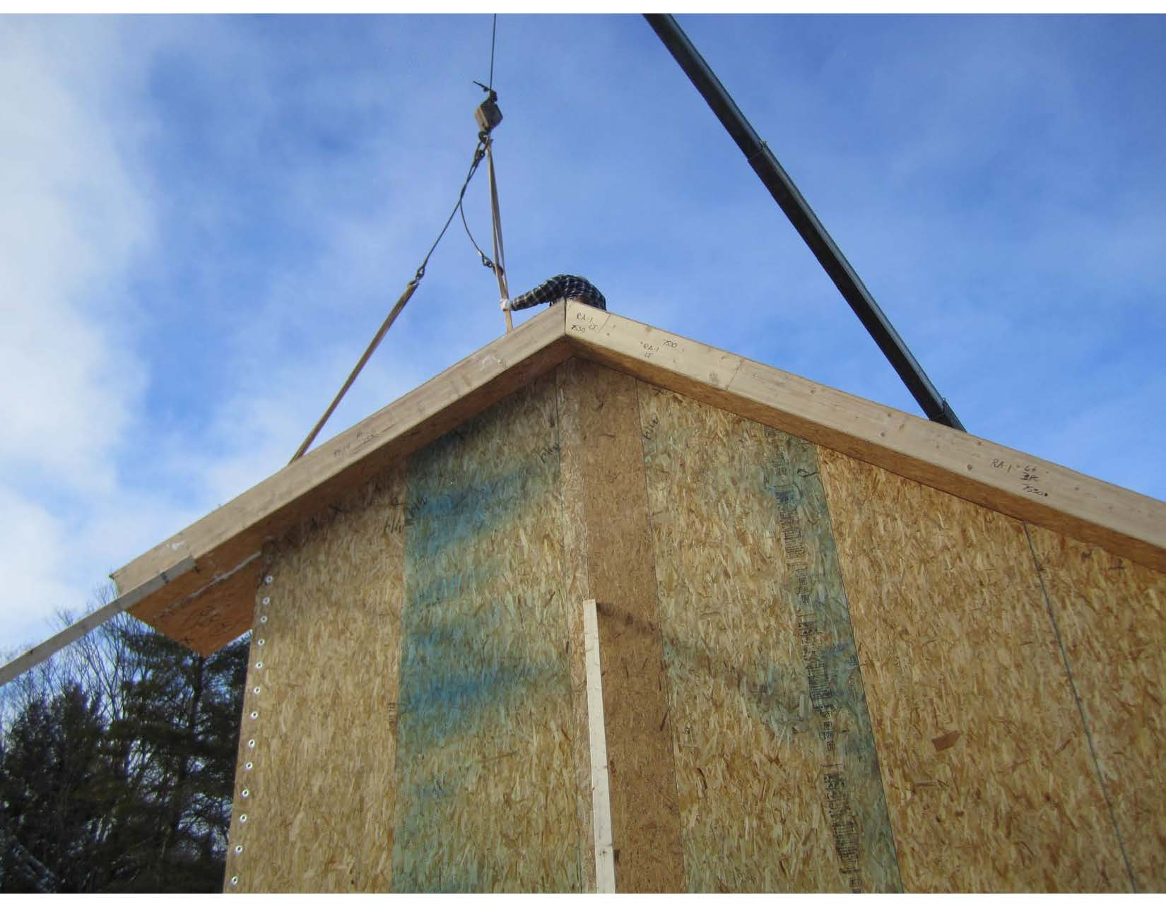 Aspley ON-8 Setting Second Roof Panel