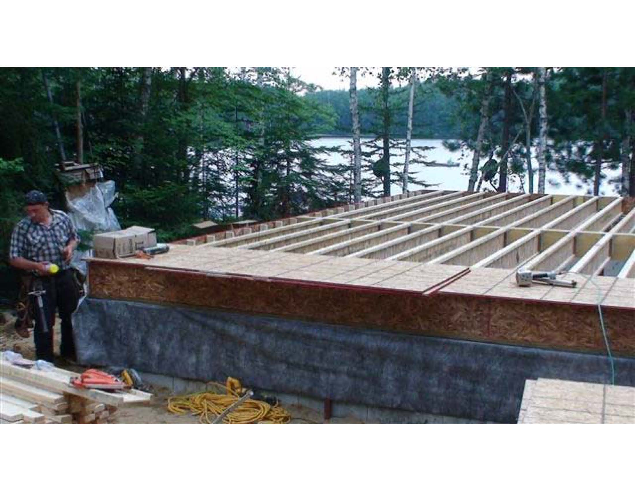Mink Lake On-3 Sheathing the Sub-Floor
